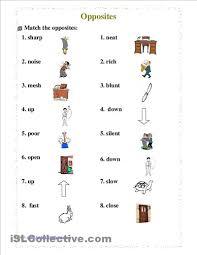 free worksheets opposites worksheets for kindergarten free
