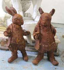 garden ornaments mr rabbit 45cm x 17cm and mr ratty 40cm x