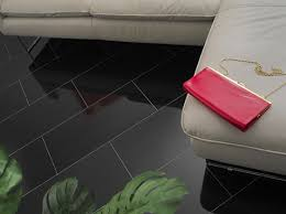 beautiful black tiling from our laminate flooring