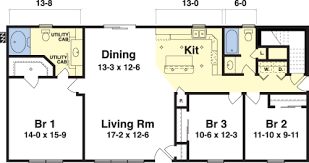 ranch floor plans with 3 bedrooms 3 bed 2 bath ranch floor plans homes floor plans