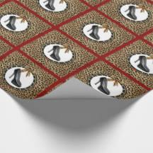 cheetah print wrapping paper christmas shoe wrapping paper zazzle