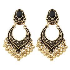 Huge Chandelier Earrings Joywish Tibetan Design Metal Beads Big Chandelier Earrings