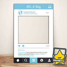 baby shower frames boy baby shower instagram frame 80 x 110 cm baby shower