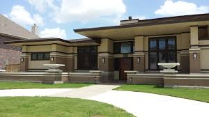 frank lloyd wright inspired home with lush landscaping frank lloyd wright inspired homes house plans 52622