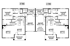 Duplex With Garage Plans Duplex House Plan With Garage Stupendous Bedroom Plans Home