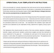 operational plan template emergency operations plan sample word