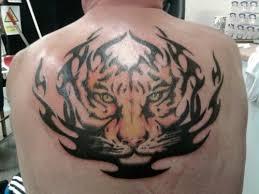 tribal tiger on back tattooshunt com