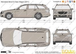 2009 mercedes e350 wagon the blueprints com vector drawing mercedes e class wagon w212