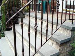 nice exterior wrought iron railing u2014 railing stairs and kitchen