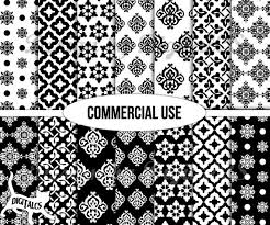 commercial wrapping paper digital paper black and white digital scrapbook paper wrapping
