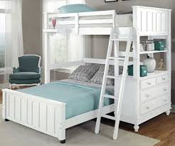 l shaped white bunk beds twin over full look spacious white bunk