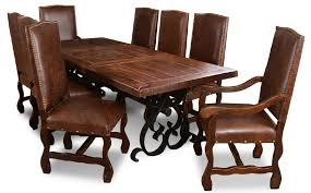 wood and iron dining room table packages hacienda furniture package