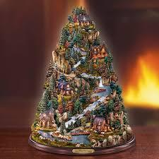 kinkade tranquil mountain tree at treasures