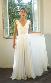 Vintage Style Wedding Dresses Romantic Vintage Inspired Wedding Dress Custom Made Chiffon