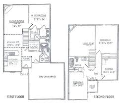 apartments 2 story floor plans 2 story home floor plans yurt