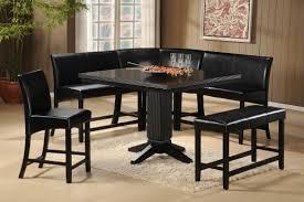 homelegance papario 7pc corner nook counter height dining set