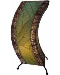 Uplight Table Lamp Fall Savings On Eangee C Shape Green Cocoa Leaves Uplight Accent