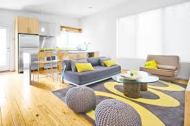 Modern Yellow Rug And Yellow Bedroom Ideas Living Room Modern With Gray Sofa Gray