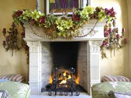 decorated fireplaces caurius christmas fireplace decorations dact us