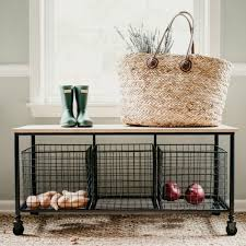Mudroom Bench With Storage Metal Entryway Bench With Storage Antique Farmhouse