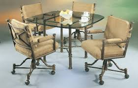 dining room chairs casters and arms inspiration dining room