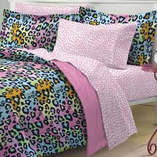 Cheetah Twin Comforter Total Fab Rainbow Leopard And Zebra Print Comforter U0026 Bedding Sets