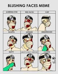 Cute Meme Faces - blushing faces meme dr d by crimson firefox on deviantart