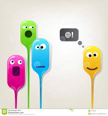 funny color bubble heads stock photography image 17523642