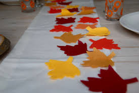 no sew thanksgiving table runner and placemats