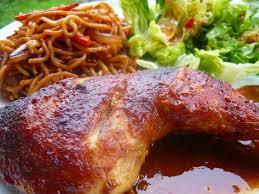 cuisiner un poulet entier poulet rôti au saté et sauce d huîtres la taverne de ginia
