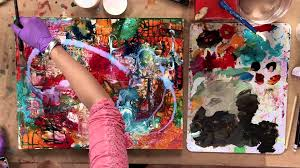acrylic painting mixed media flowers preview youtube