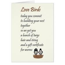 wedding poems birds a wedding poem card zazzle co uk