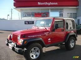 rubicon jeep red 2004 flame red jeep wrangler rubicon 4x4 2004049 gtcarlot com