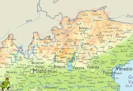 Dolomites Italy Map by Garda