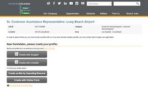 enterprise rent a car job application apply online