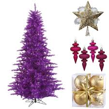how to decorate a purple tree northpoledecor