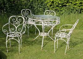 Oval Wrought Iron Patio Table Appealing White Metal Outdoor Furniture Elegant Classy Cast