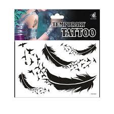 arti tato bulu merak 5 pcs keren satu kali tato lengan busana tato stiker pada tubuh