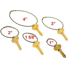 small key rings images Flexible stainless steel cable tamper proof key ring 4 inch diameter jpg