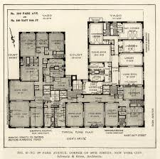 floor plan of 399 park avenue new york city old architecture