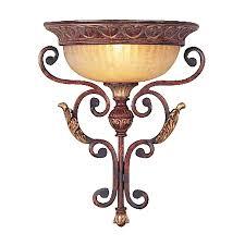 Shop Wall Sconces At Lowes by Shop Livex Lighting Villa Verona 13 7 In W 1 Light Verona Bronze