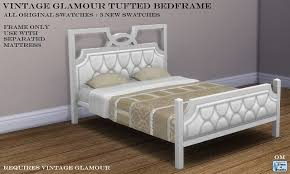 sims 4 cc u0027s the best vintage glamour tufted bed frame by