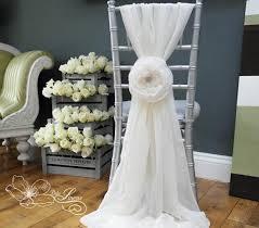 chiffon chair sash custom made 2016 feminine ivory chiffon chair covers 3d flower
