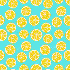 seamless lemon pattern cute seamless pattern with yellow lemon slices stock vector
