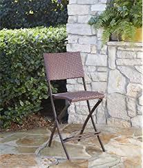 Folding Bar Table Outdoor Amazon Com Marinelli 3 Piece Outdoor Wicker Folding Bar Set