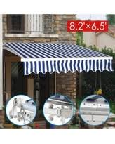 Awning Tech Great Deals On Manual Patio 8 2 U0027 X 6 5 U0027 Retractable Deck Awning