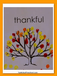 thankful fingerprint tree nuttin u0027 but preschool