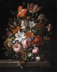 Flowers Glass Vase Rachel Ruysch Flowers In A Glass Vase Detroit Institute Of