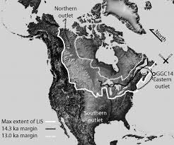 North America Ice Age Map by