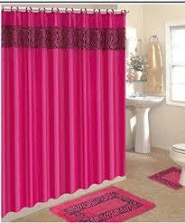 amazon com 4 piece bath rug set 3 piece pink zebra bathroom rugs